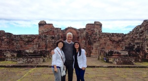 Mike & I and Cynthia who has travelled with us on all our trips
